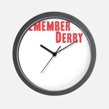 Remember Derry Neutral Wall Clock