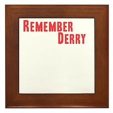 Remember Derry Neutral Framed Tile