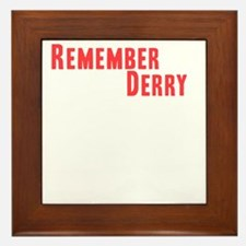 Remember Derry Neutral Framed Tile