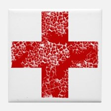 red cross Tile Coaster