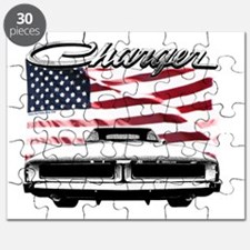 1969 Charger USA flag front Puzzle