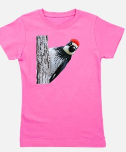 Acorn Woodpecker Bird T-Shirt Girl's Tee