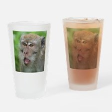 Crab-eating Macaque Monkey T-Shirt Drinking Glass
