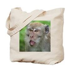 Crab-eating Macaque Monkey T-Shirt Tote Bag