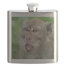 Crab-eating Macaque Monkey T-Shirt Flask