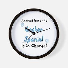 Cocker Spaniel Charge Wall Clock