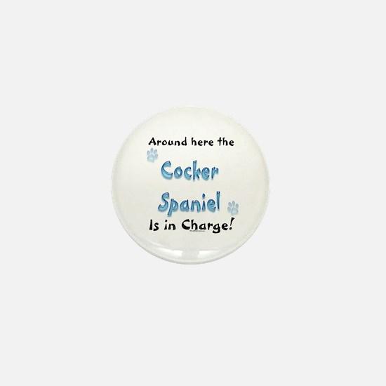 Cocker Spaniel Charge Mini Button