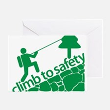 Don't Panic, Climb to Safety Greeting Card