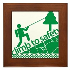 Don't Panic, Climb to Safety Framed Tile