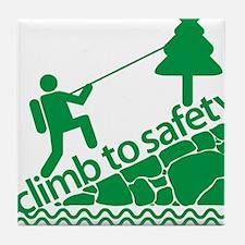Don't Panic, Climb to Safety Tile Coaster