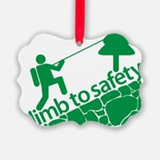 Don't Panic, Climb to Safety Ornament
