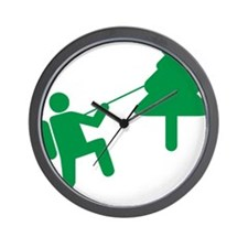 Don't Panic, Climb to Safety Wall Clock