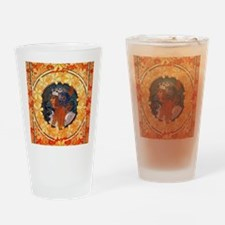 Byzantine Blonde Head by Alphonse M Drinking Glass