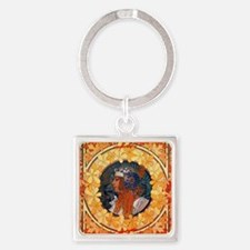 Byzantine Blonde Head by Alphonse  Square Keychain
