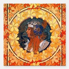 "Byzantine Blonde Head by Square Car Magnet 3"" x 3"""