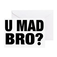 U MAD BRO Greeting Card