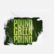 POUNDGREEN_cp Greeting Card