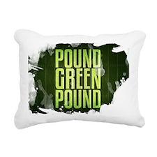POUNDGREEN_cp Rectangular Canvas Pillow
