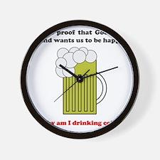 beer coffee mug3 Wall Clock