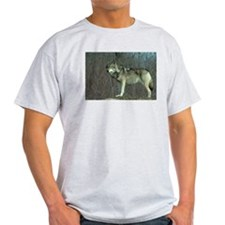 Wolf Full Ash Grey T-Shirt