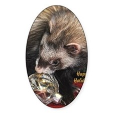 Ferret Holidays Text L Decal