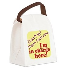 im in charge.gif Canvas Lunch Bag