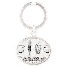 reinheitsgebotbw Oval Keychain