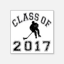 "Class Of 2017 Hockey - Blac Square Sticker 3"" x 3"""