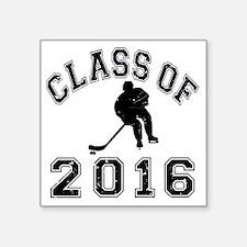 "Class Of 2016 Hockey - Blac Square Sticker 3"" x 3"""