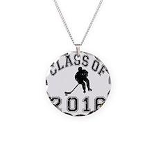 Class Of 2016 Hockey - Black Necklace