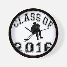 Class Of 2016 Hockey - Black 2 D Wall Clock