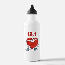 Half-marathon heart Water Bottle