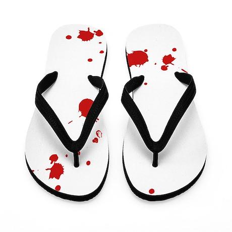 blood-spatter Flip Flops