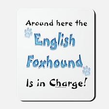 English Foxhound Charge Mousepad