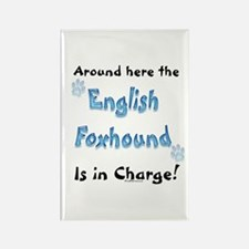 English Foxhound Charge Rectangle Magnet