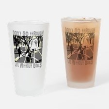 Life and Goals Hockey Fan Drinking Glass