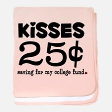 25 Cents Kisses baby blanket