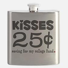25 Cents Kisses Flask