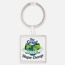 Great Diaper Change Final Logo_SM_ Square Keychain