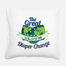 Great Diaper Change Final Log Square Canvas Pillow