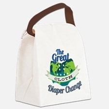 Great Diaper Change Final Logo_SM Canvas Lunch Bag