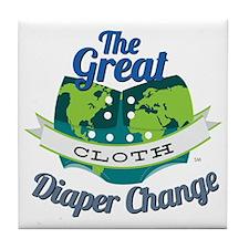 Great Diaper Change Final Logo_SM_no  Tile Coaster