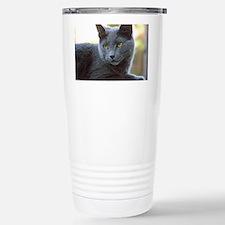 Gray Cat Travel Mug