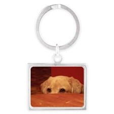 Sneaky Dog Landscape Keychain