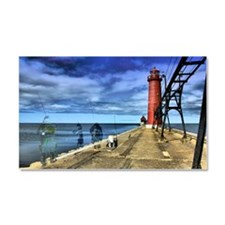 grand haven 2010 hdr 3 ghosts f Car Magnet 20 x 12