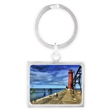 grand haven 2010 hdr 3 ghosts f Landscape Keychain