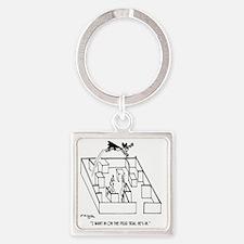 4664_lab_cartoon Square Keychain