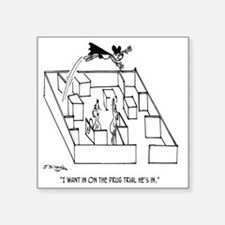"4664_lab_cartoon Square Sticker 3"" x 3"""