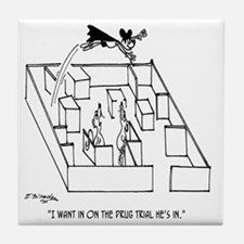 4664_lab_cartoon Tile Coaster