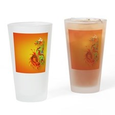 CoinPurse  Flaming Dragon Drinking Glass